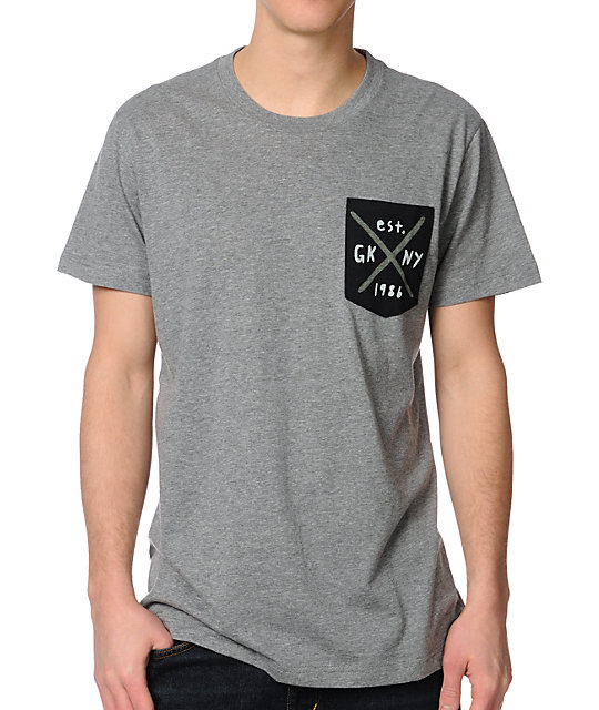 Glamour Kills Traditional Grey Pocket T-Shirt