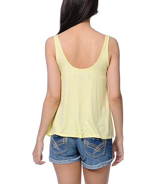 Glamour Kills Vacation Forever Yellow Tank Top
