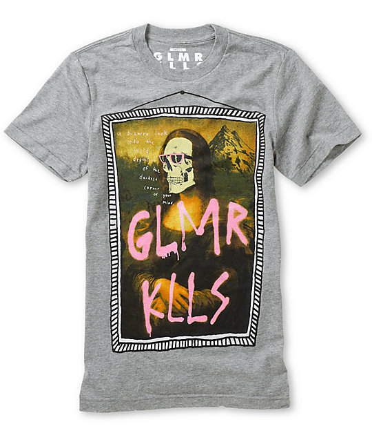 Glamour Kills What A Fine Mess Grey Crew Neck T-Shirt