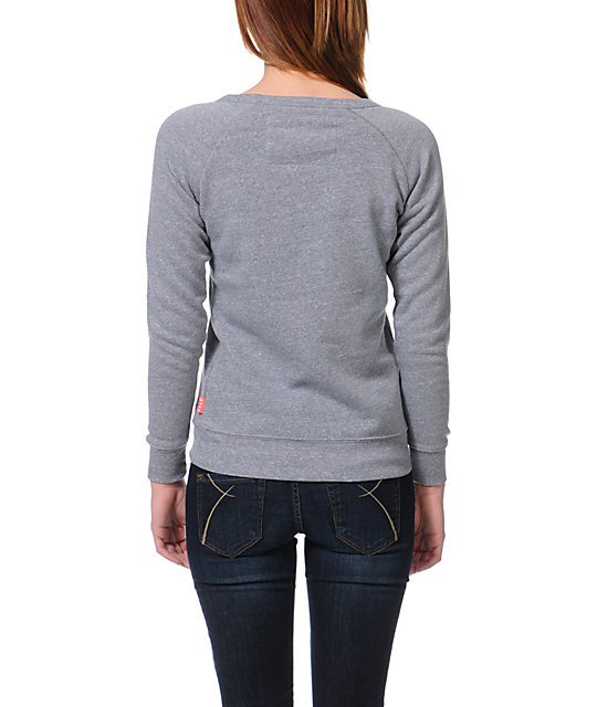 Glamour Kills Wonderfully Lost Grey Crew Neck Sweatshirt