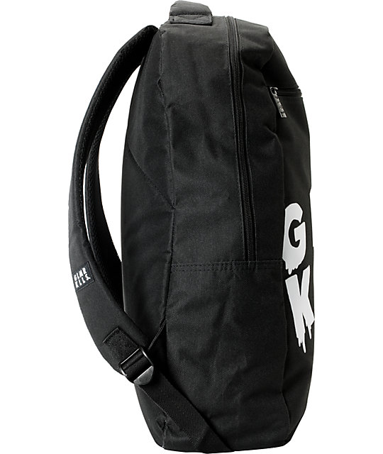 Glamour Kills Words Black Laptop Backpack