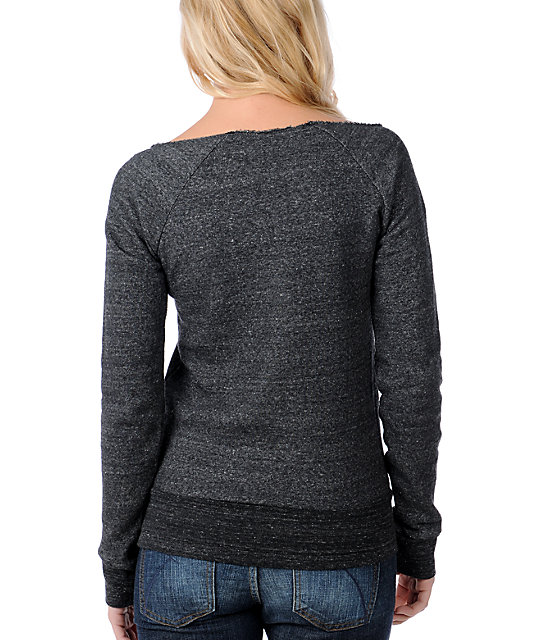 Glamour Kills Yon & Joko Heather Charcoal Pullover Sweatshirt