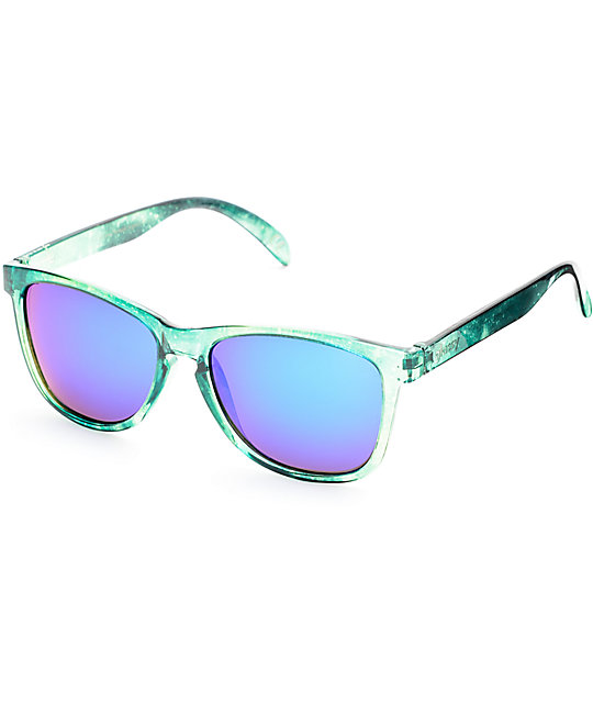 b53c18b370b Glassy Jaws Green Galaxy Polarized Sunglasses