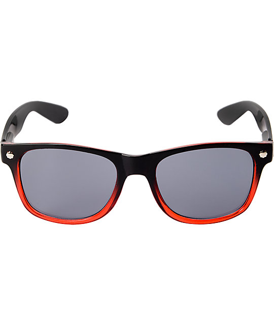 Glassy Leonard Black & Red Fade Sunglasses