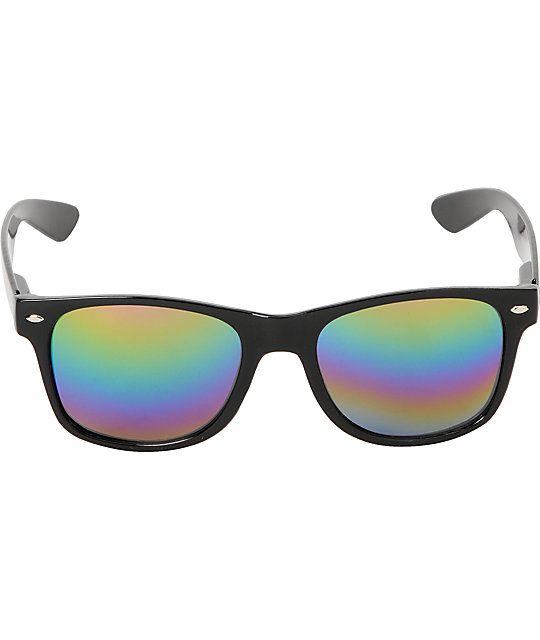 Glassy Leonard Glossy Black & Color Mirror Sunglasses
