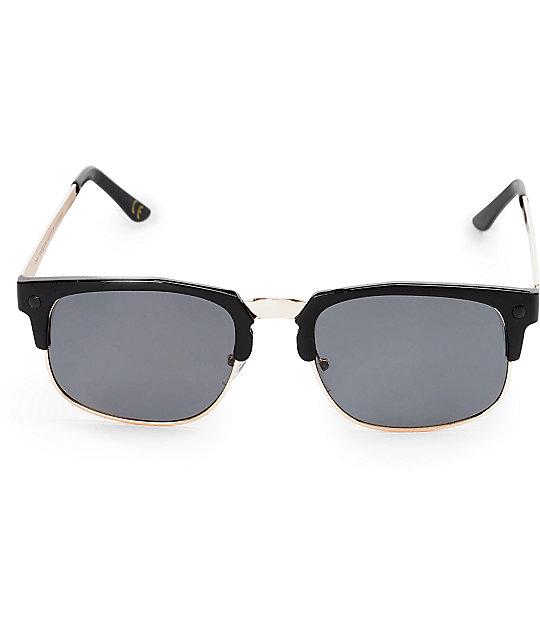 dfa5cef2f54 ... Glassy Prod Black   Gold Sunglasses
