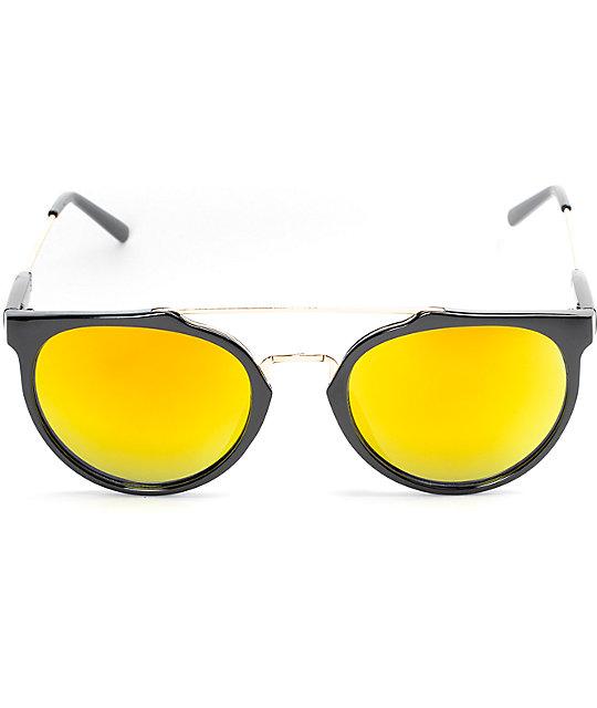 6fa14726d7 ... Glassy Sunhaters Chuck Black   Red Mirrored Sunglasses