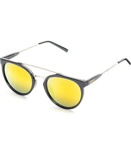 5be10f0e7f Glassy Sunhaters Chuck Black   Red Mirrored Sunglasses