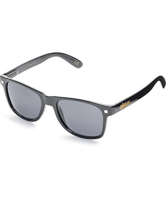 9fecc3f8ba Glassy Sunhaters Leonard Black Polarized Sunglasses