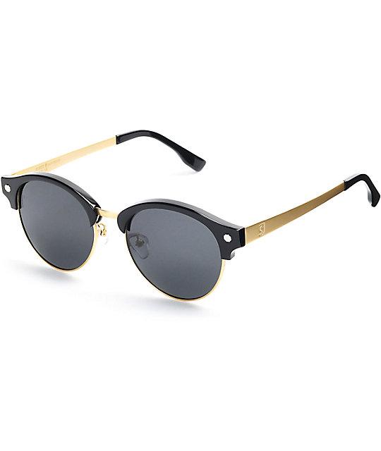dc7eafd470 Glassy Sunhaters Paul gafas de sol en negro y color oro   Zumiez