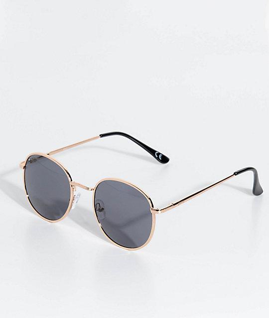 a772f2d86d Glassy Sunhaters Ridley gafas de sol en negro y color oro   Zumiez
