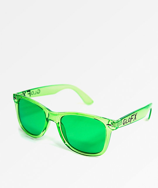 5c4297a64e8 GloFX Color Therapy Green Sunglasses