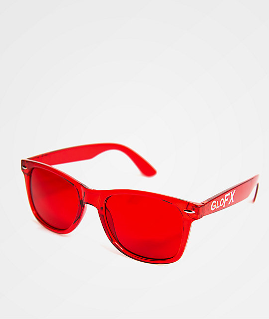 abc8b1b50a1ac GloFX Color Therapy Red Sunglasses