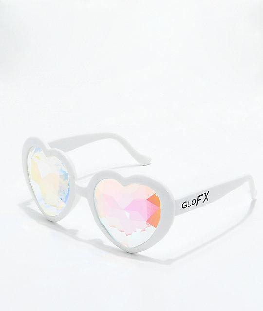 fc4ad84e461 GloFX Heart Kaleidoscope White Glasses