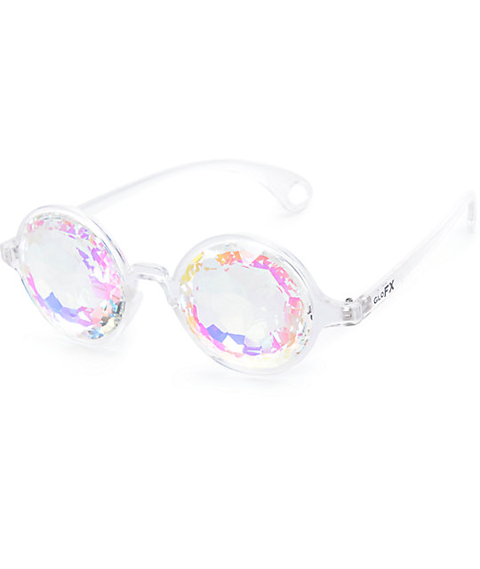 GloFX Kaleidoscope Crystal Rainbow Clear Glasses