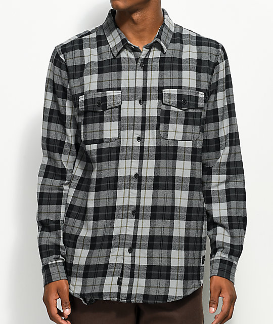 Globe Flanigan Black & Grey Flannel Shirt