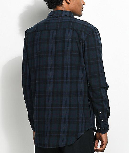 91f4e11dd48 ... Globe Flanigan Marine   Black Flannel Shirt ...