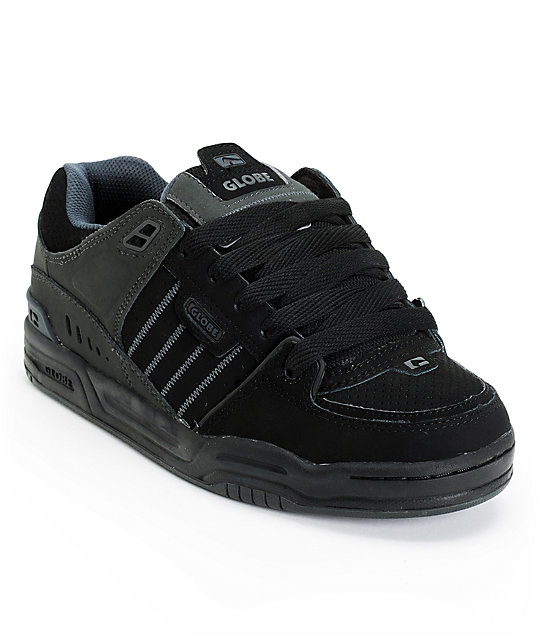 Globe Fusion Black & Night Skate Shoes ...
