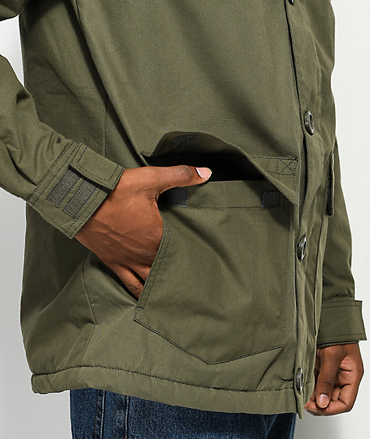 Globe Goodstock Thermal Olive Green Parka Jacket
