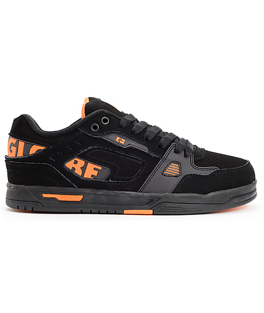 Globe Lock Black, Night & Orange Skate Shoes