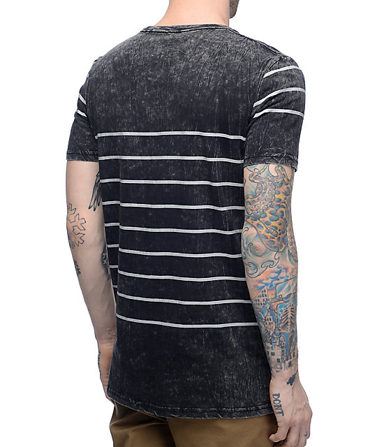Globe Moonshine Black & White Striped T-Shirt