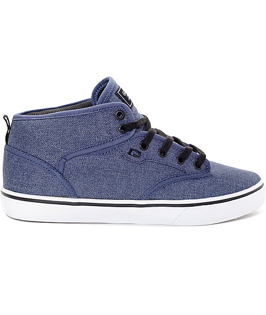 ... Globe Motley Mid Chambray Navy Shoes