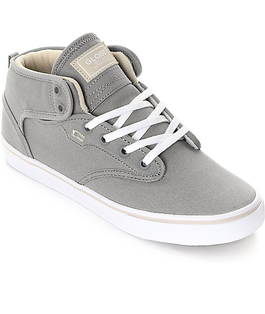 Globe Motley Mid Grey & Oatmeal Skate Shoes