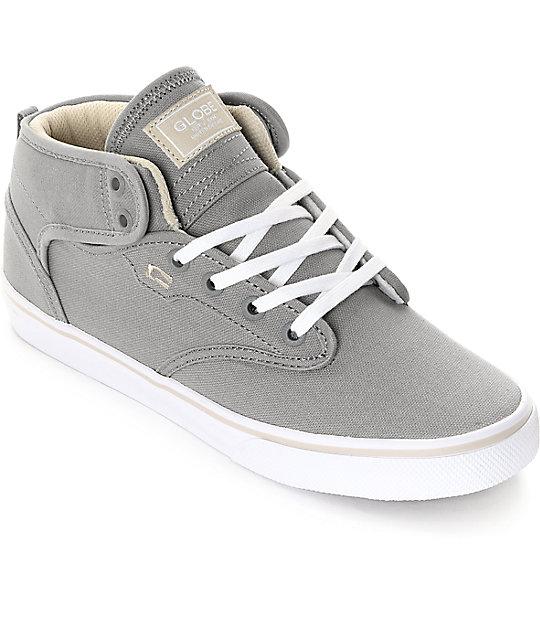Globe Motley Mid Grey & Oatmeal Skate Shoes ...