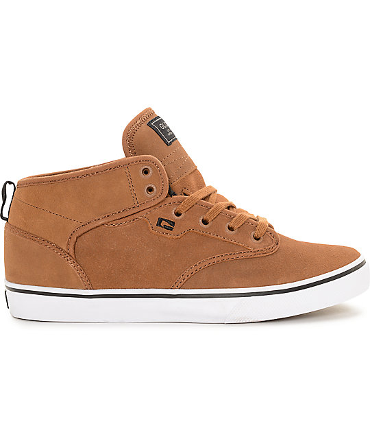 Globe Motley Mid Toffee & White Skate Shoes