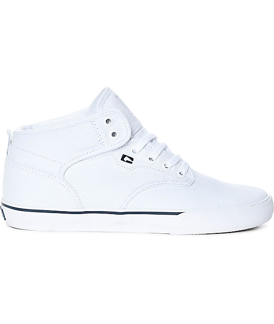 Globe Motley Mid White Canvas Shoes