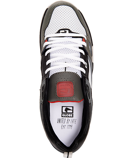 Globe Raid White & Black Skate Shoes