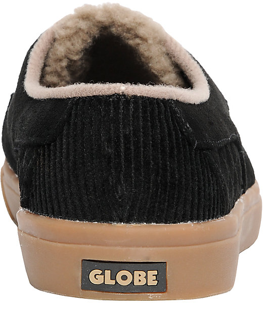 Globe Shoes Castro United Black Suede Slippers