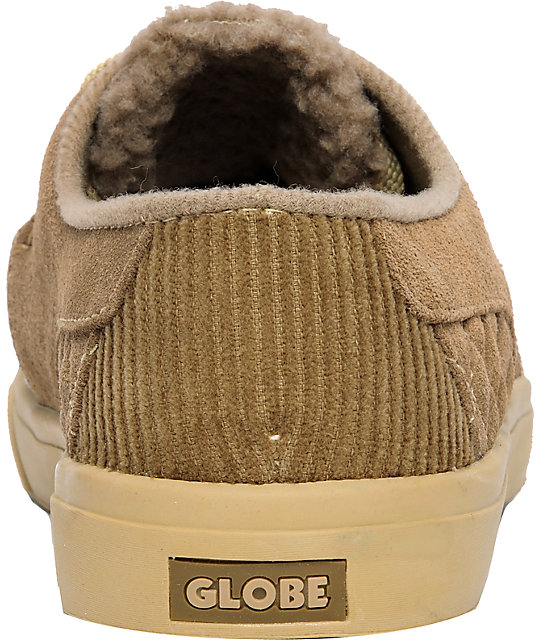Globe Shoes Castro United Granite & Khaki Suede Slippers