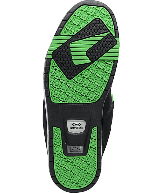 Globe Shoes Cleaver Black & Neon Green Skate Shoes