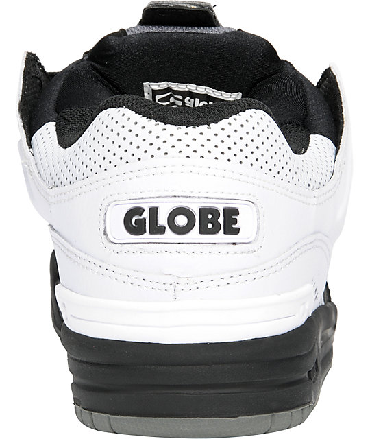Globe Shoes Fusion Black, Charcoal & White Skate Shoes