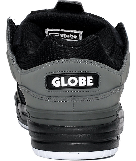 Globe Shoes Fusion Charcoal, Black & White Skate Shoes