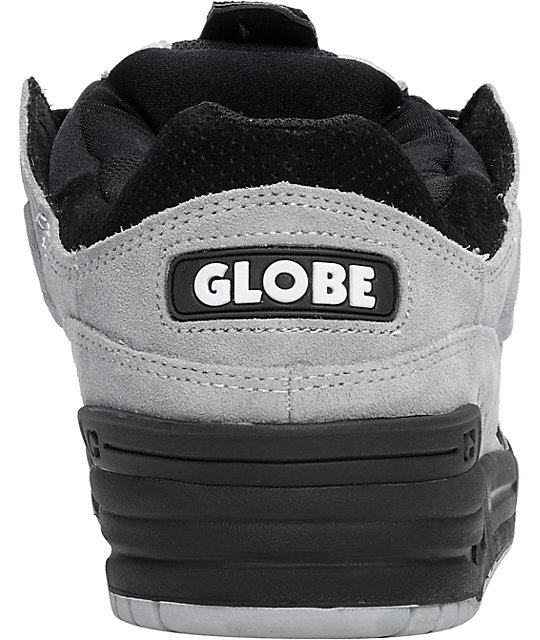 Globe Shoes Fusion Silver, Grey, & Black Skate Shoes