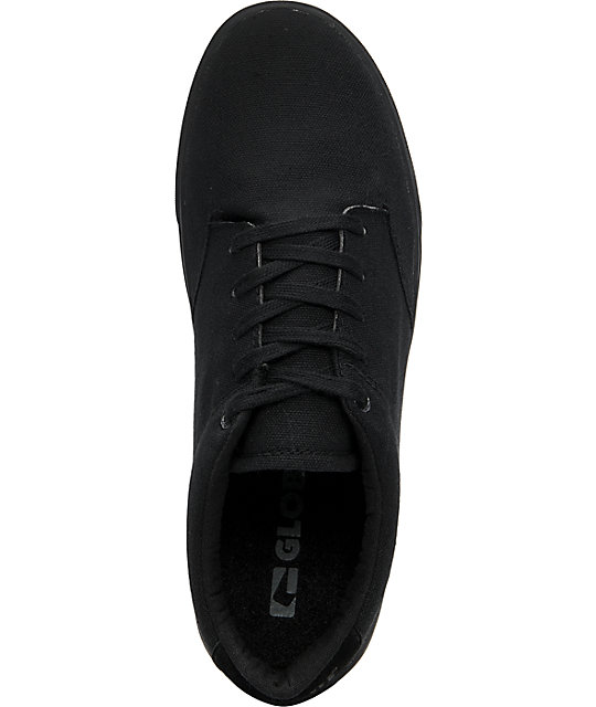 Globe Shoes Lighthouse Black Canvas Skate Shoes