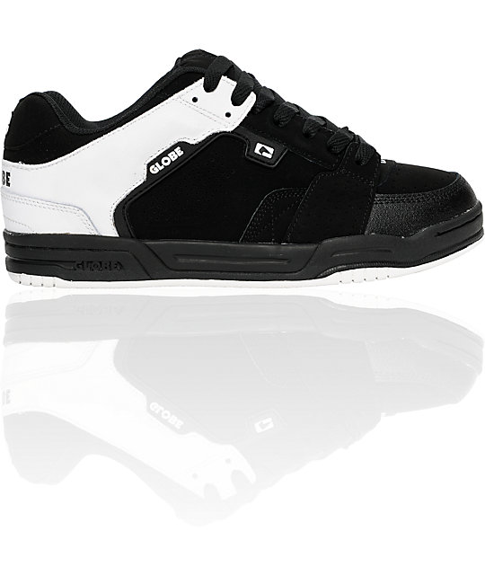 Globe Shoes Scribe Black, White & Dip Skate Shoes