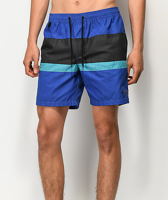 Globe Throwback shorts de baño azules