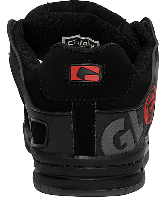Globe Tilt Black, Red & Charcoal Shoes
