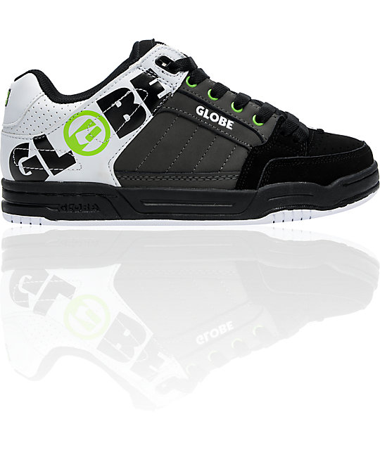 Globe Tilt Charcoal, Black & White Bold Skate Shoes