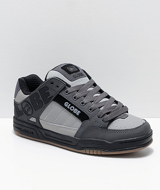 Globe Tilt Grey, Charcoal & Black Skate Shoes
