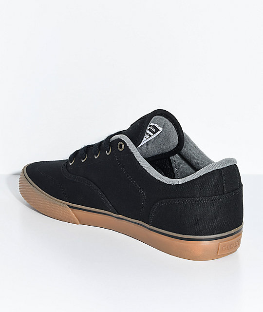 Globe Tribe Black Canvas & Gum Skate Shoes