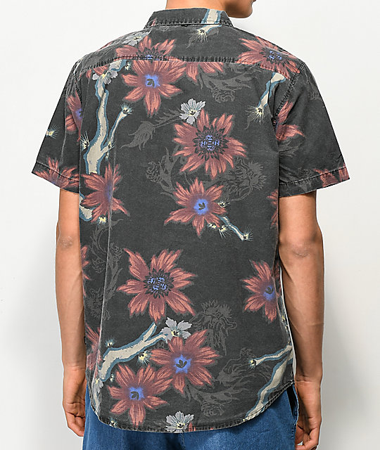 Globe Vault Floral Short Sleeve Button Up Shirt