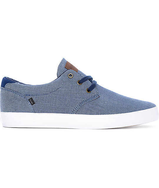 Globe Willow Navy Chambray & White Skate Shoes