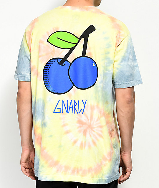 Gnarly Blue Cherries Tie Dye T-Shirt