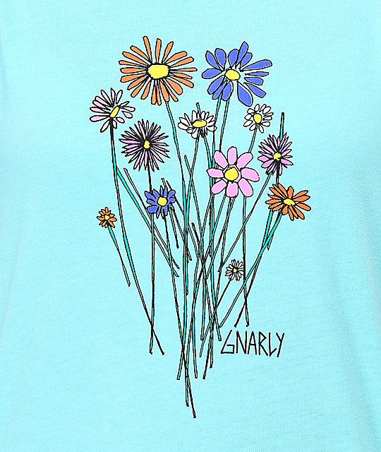 Gnarly Bouquet Light Blue T-Shirt