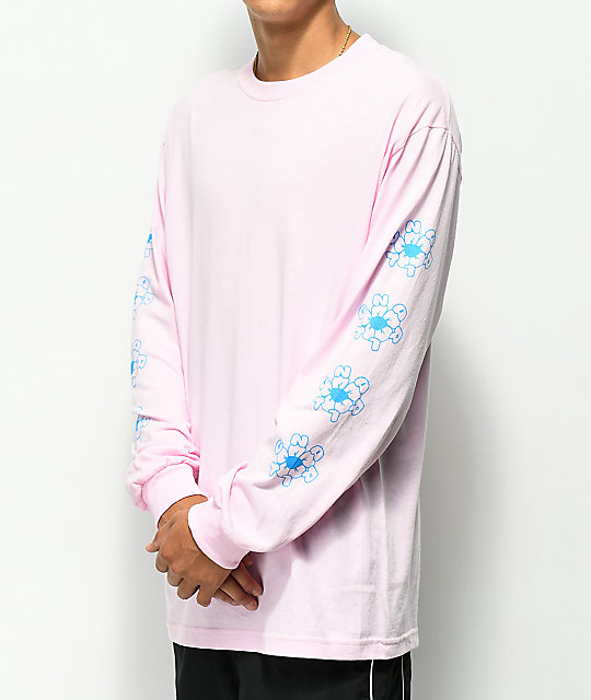 Gnarly Joy Flower Pink Long Sleeve T-Shirt
