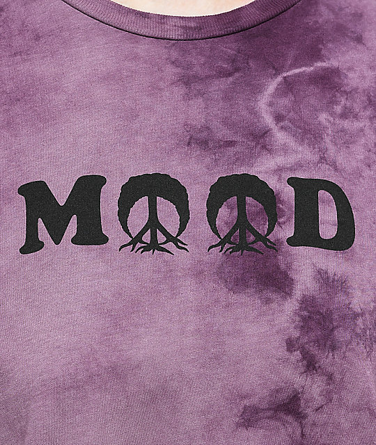 Gnarly Mood Purple Tie Dye T-Shirt